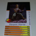 Action Man Power Cards 1996 Warpaint Warrior Trading card @sold@